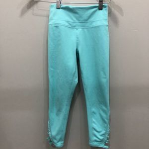 Zella girl M 8/10 aqua leggings